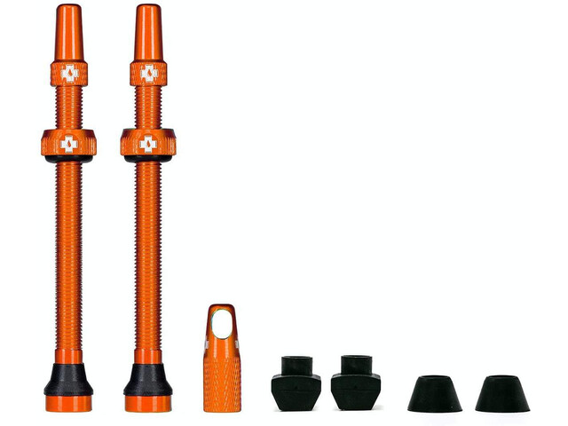 Muc-Off MTB & Road Tubeless Valve Kit 80mm, naranja